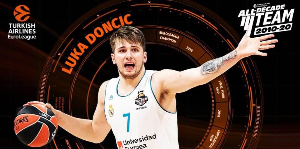 Dončić u 'timu decenije' Eurolige
