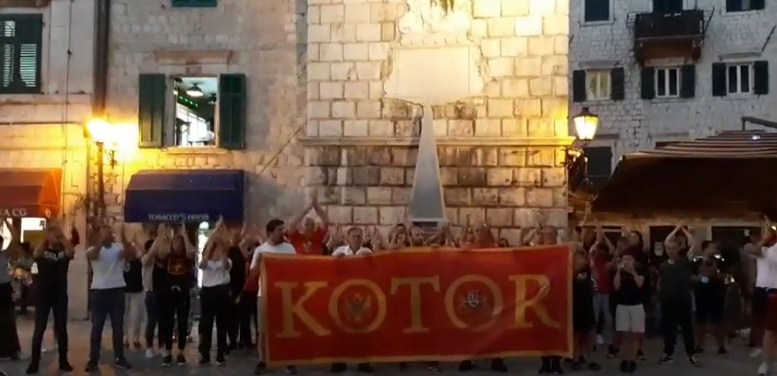 """Protest i Kotoru: """"Ljubo Čupić"""" odjekivalo gradom!"""