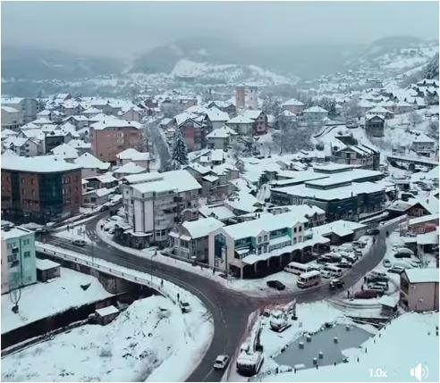 Pogledajte snimak: Bijelo Polje u januaru