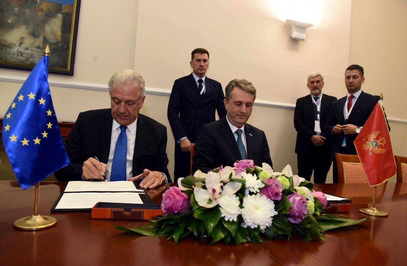CG i EK potpisale Sporazum o sprovođenju Zajedničkog akcionog plana za borbu protiv terorizma