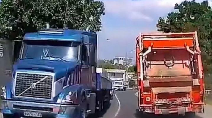 Evo šta se desi kad kamionu na nizbrdici otkažu kočnice
