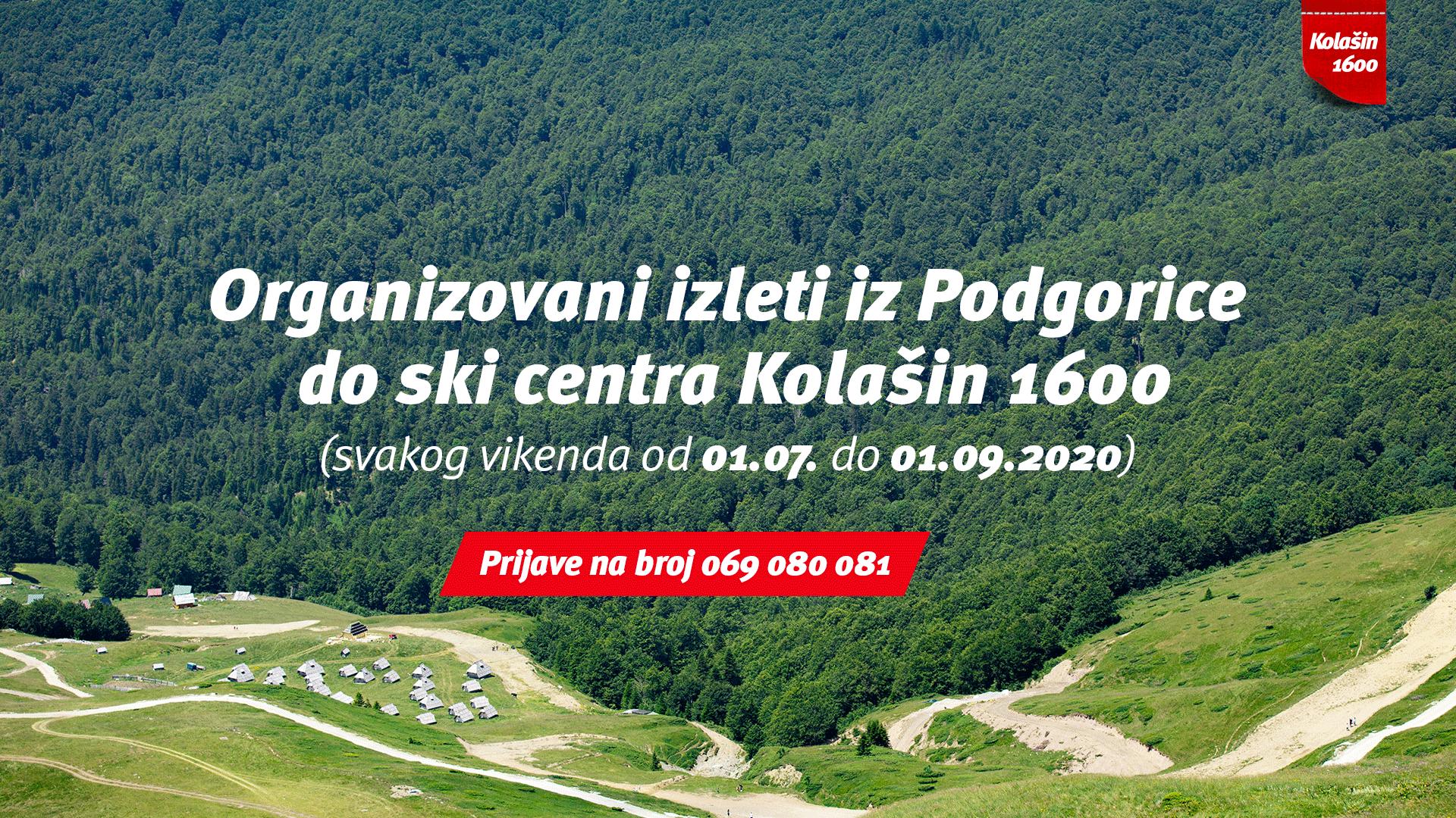 Svakog vikenda izleti iz Podgorice do ski centra Kolašin 1600