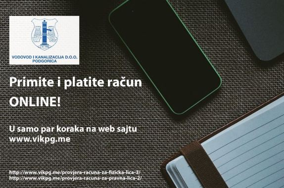 Podgorica: Plaćanje računa za vodu putem novog elektronskog servisa