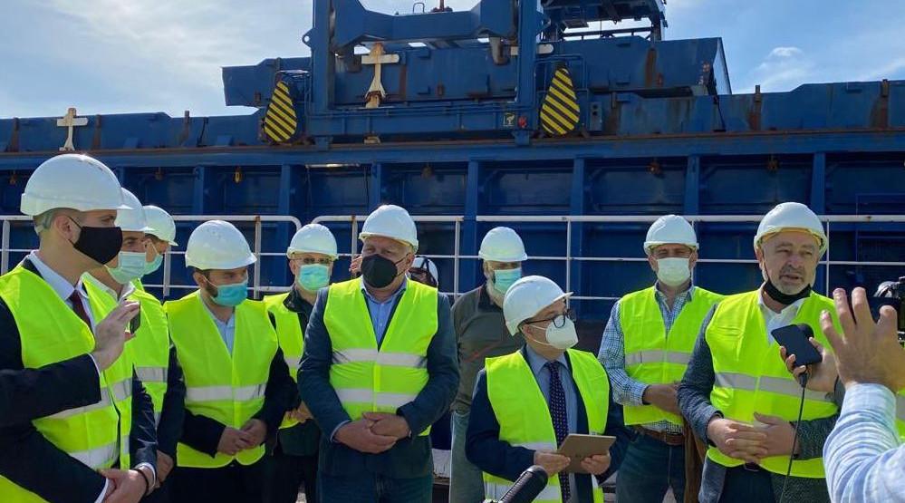 Krivokapić u Bijeloj: Brod konačno spreman za izvoz grita u Španiju