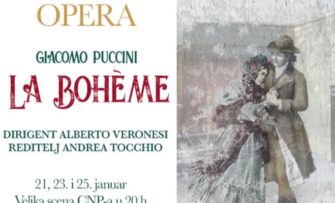 Premijera Pučinijeve opere ''La Boheme'' u CNP-u