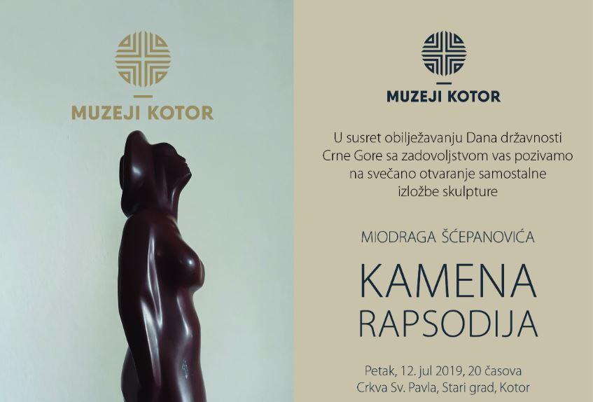 """Izložba skulptura """"Kamena rapsodija"""" u petak u Kotoru"""