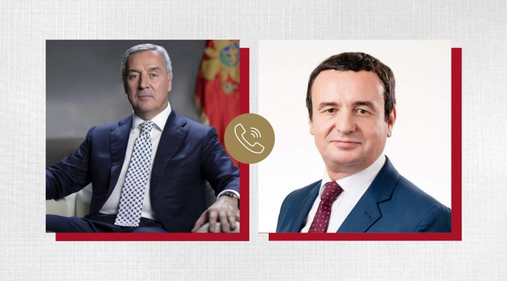 Đukanović - Kurti: Želimo dobro svojim narodima, ali to dobro ne može doći ako ne mislimo dobro i susjedima