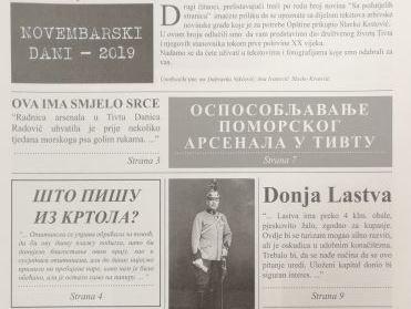 """Na Dan Opštine Tivat distriburana novina """"Sa Požutjelih Stranica"""""""