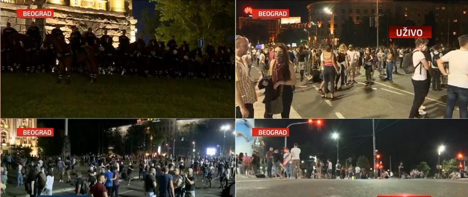 Protesti širom Srbije, nekoliko manjih incidenata, u Beogradu napadnut novinar