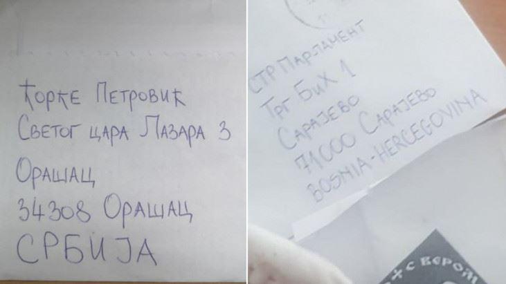 Ko je i odakle poslao kovertu s četničkim simbolom i metkom u Parlament BiH