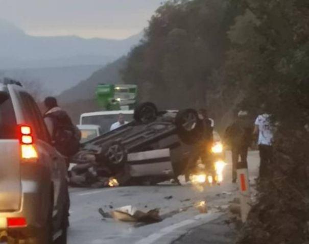 Udes na putu Nikšić - Danilovgrad: Dvije osobe povrijeđene, pušten saobraćaj