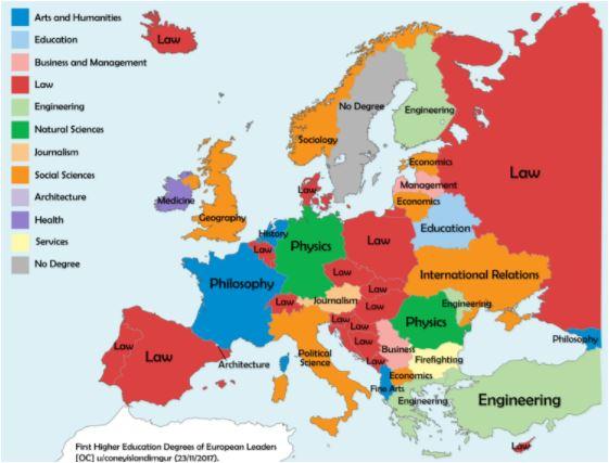 Karta Obrazovanja Evropskih Lidera Svedska Najvece Iznenađenje