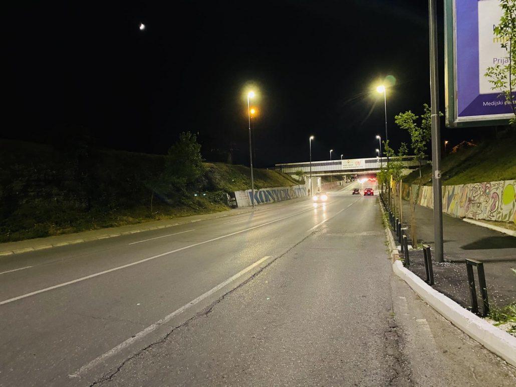 Savremena LED rasvjeta u Ulici V proleterske brigade
