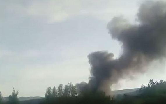 Požar u streljani u Danilovgradu