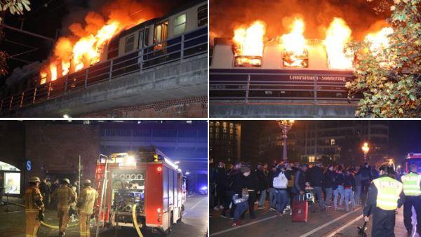 Zapalio se voz sa navijačima, 200 vatrogasaca gasilo vatru