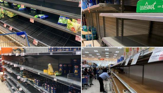 Italija: Supermarketi opustošeni zbog epidemije koronavirusa