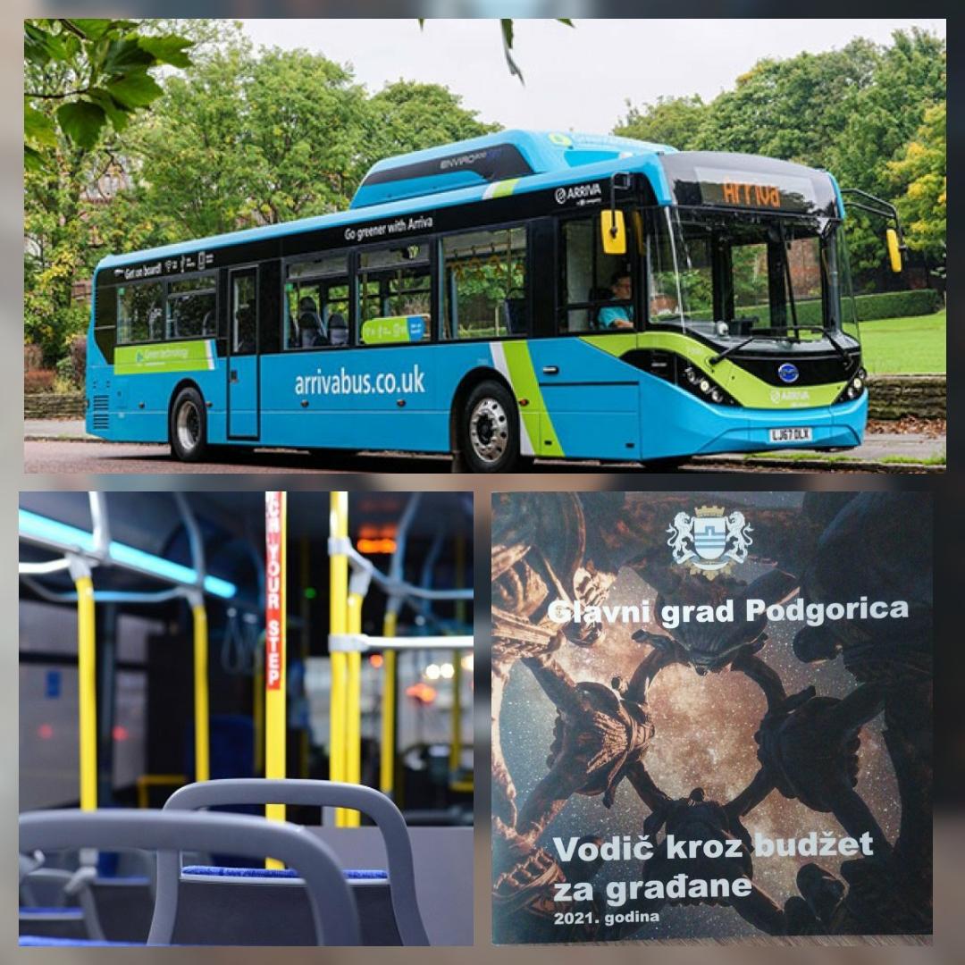 Usvajanjem budžeta za 2021. stiču se uslovi za potpunu modernizaciju javnog prevoza u Podgorici