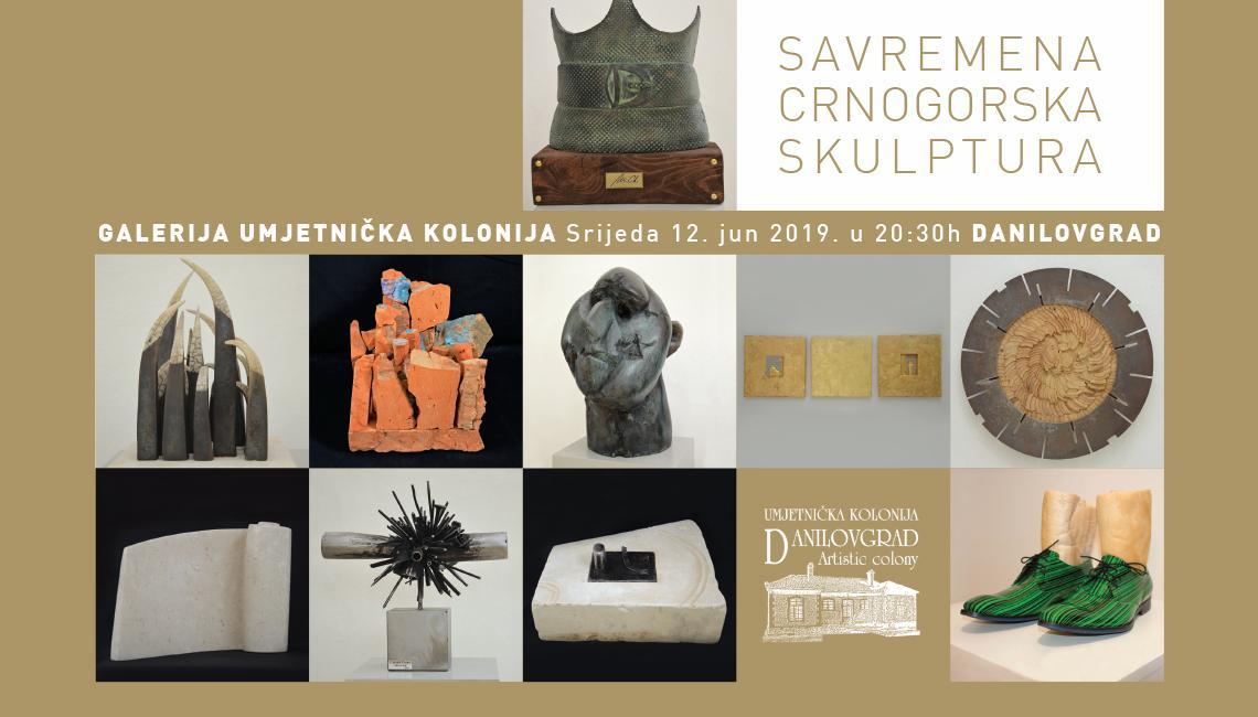 """""""Savremena crnogorska skulptura"""" u Danilovgradu"""