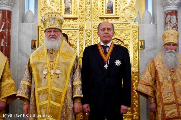 Patrijarh Kiril odlikovao šefa ruske UDBE