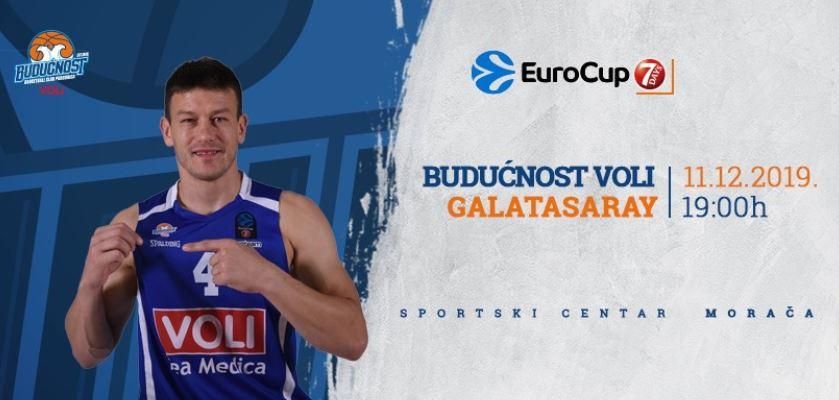 Budućnost večeras protiv Galatasaraja juri treću pobjedu u Eurokupu