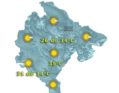 Pogledajte prognozu do kraja sedmice: Evo kad nas očekuju padavine