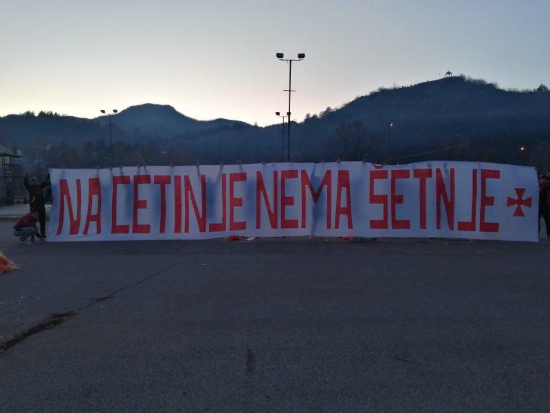 Litija SPC najavljena i u Prijestonici, Cetinjani odgovorili transparentom