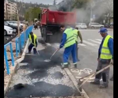 Počelo asfaltiranje trotoara u Moskovskoj ulici