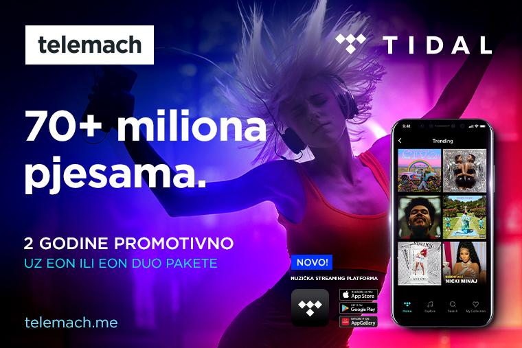 Stigao je TIDAL - najbolji zvuk koji te prati svuda sada uz Telemach!