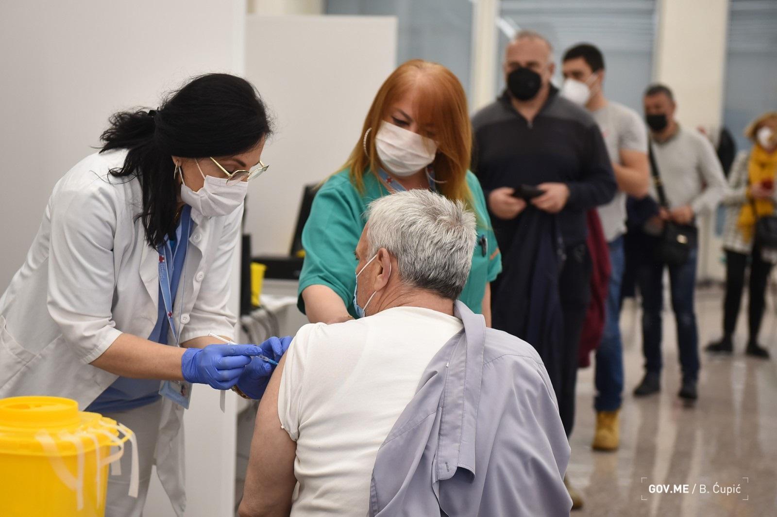U Crnoj Gori do sada vakcinisano 5,8 odsto stanovništva