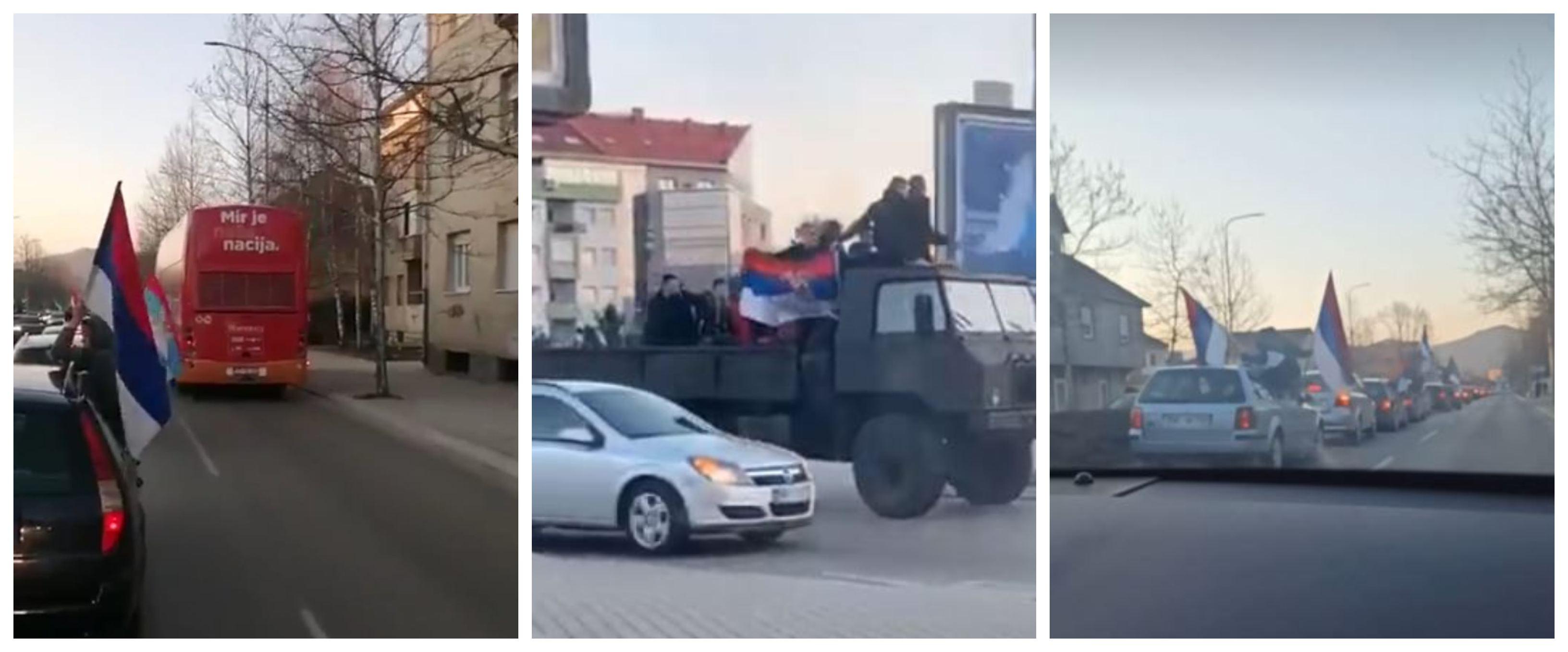 Parada trobojki Nikšićem: Pogledajte kako izgleda kolona DF-a, Demokrata i URA-e