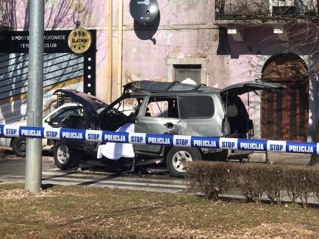 Eksplodirao automobil na Cetinju, poginuo muškarac