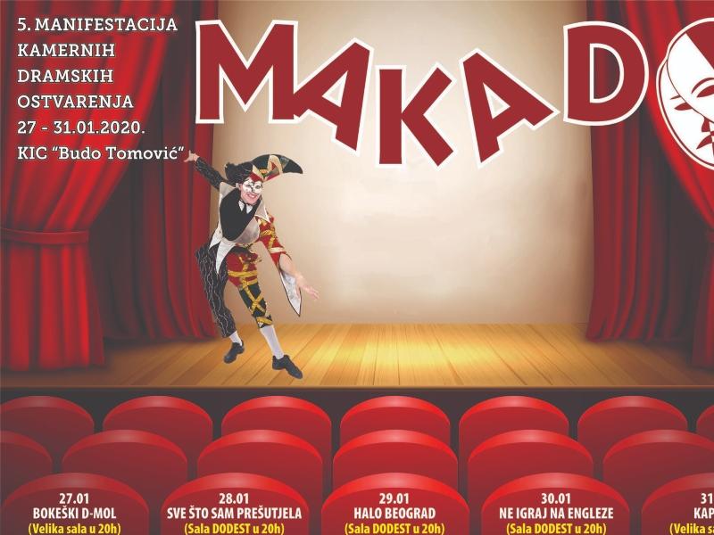 Manifestacija kamernih dramskih ostvarenja ''Makado'' od 27. do 31. januara