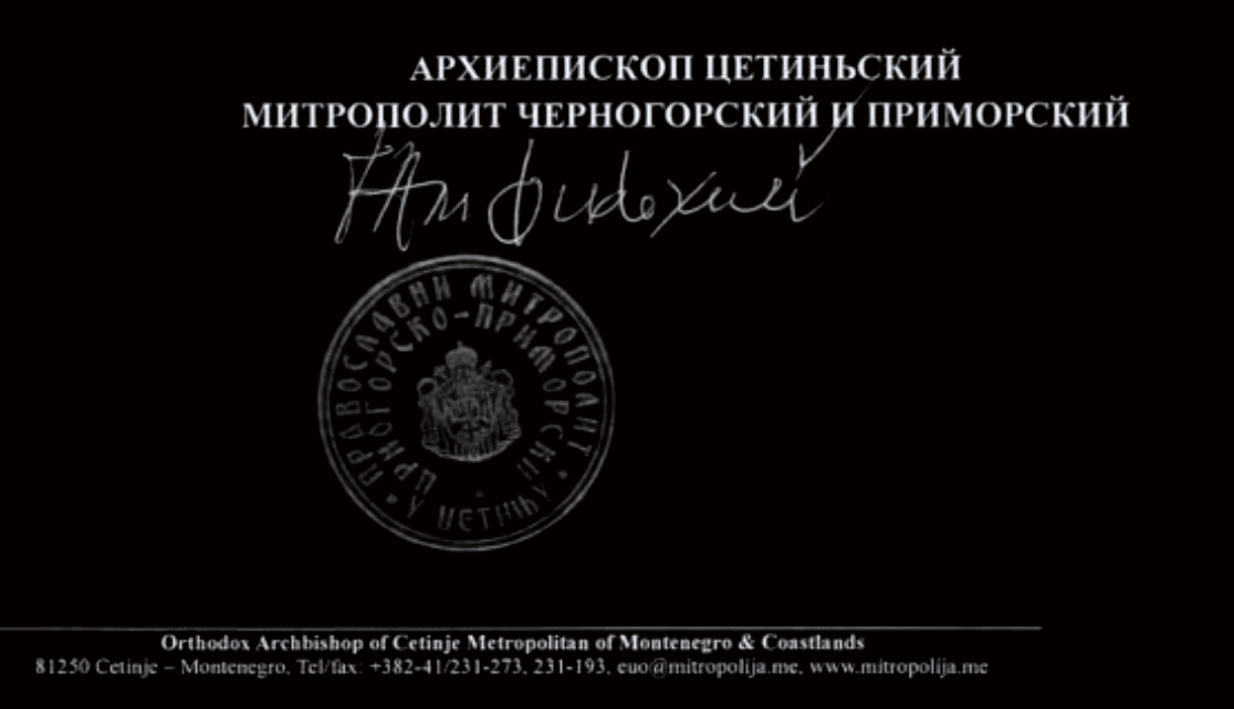 """Amfilohije pisao Ruskoj crkvi zbog susreta sa """"ukrajinskim raskolnikom"""""""