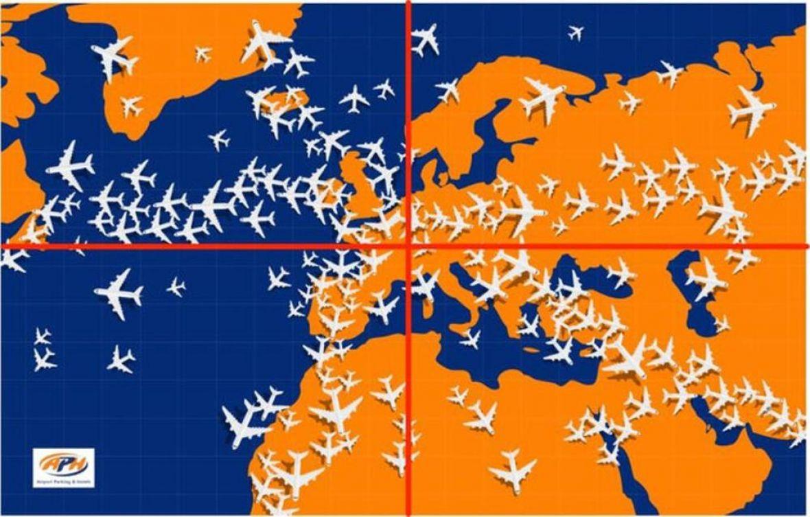 Izazov: Pronađite avion koji leti u suprotnom smjeru