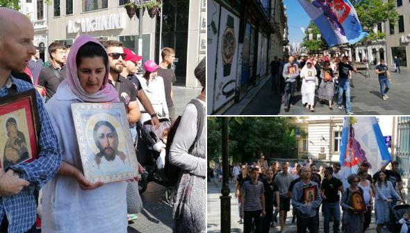 Uhapšeno pet protivnika Prajda u centru Beograda
