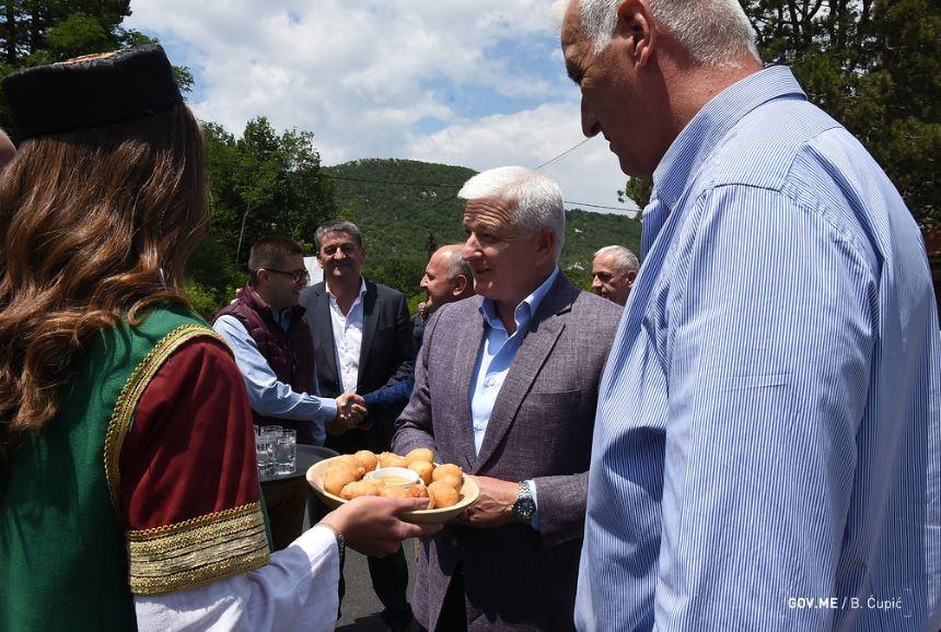 Vrijednost projekta 3,9 miliona: Marković obišao novoizgrađeni put Lovćen – Krstac
