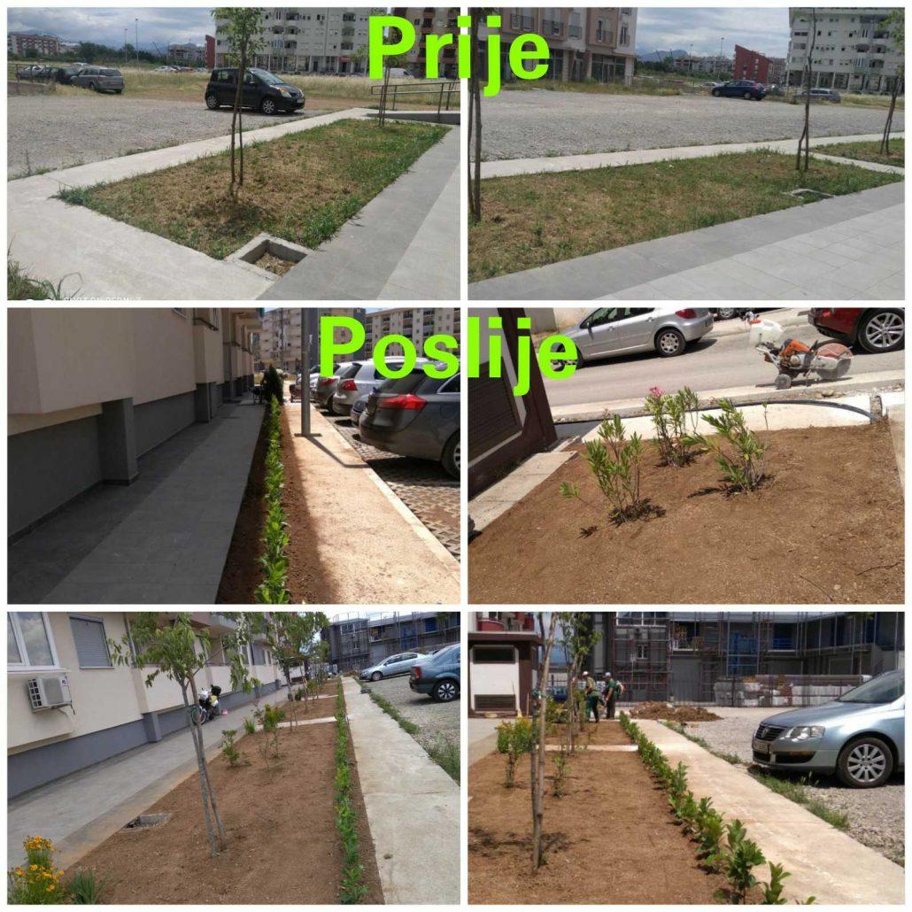 Podgorica: Pejzažno uređene površine ispred 28 stambenih objekata