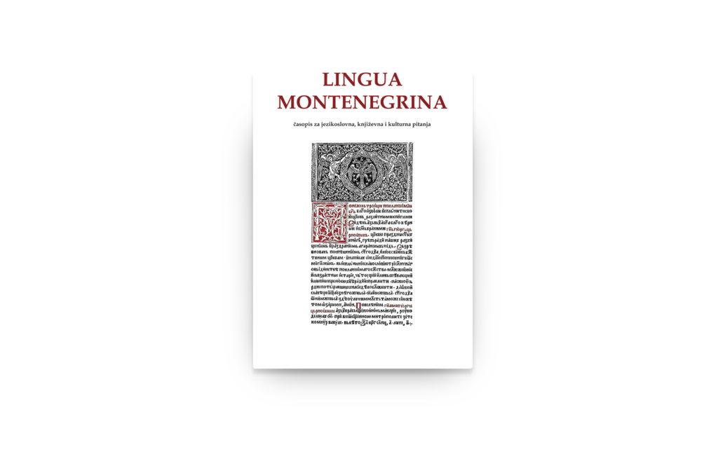 Novi broj časopisa Lingua Montenegrina