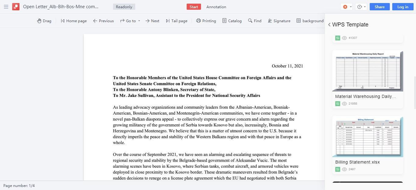 Balkanske organizacije i pojedinci u SAD pisale Blinkenu, O' Salivenu i Kongresu: Amerika da se angažuje na obuzdavanju Srbije
