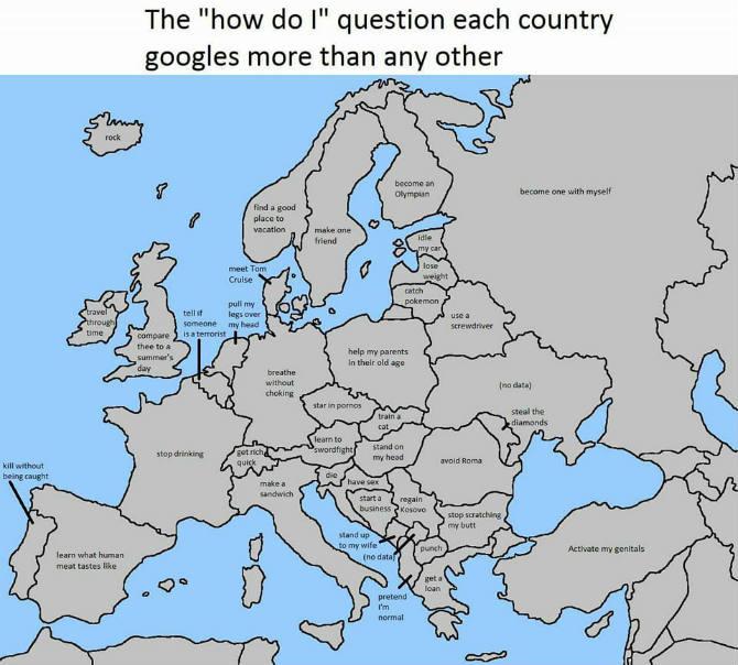 Saljiva Mapa Evrope Pogledajte Sta Crnogorci Najcesce Guglaju