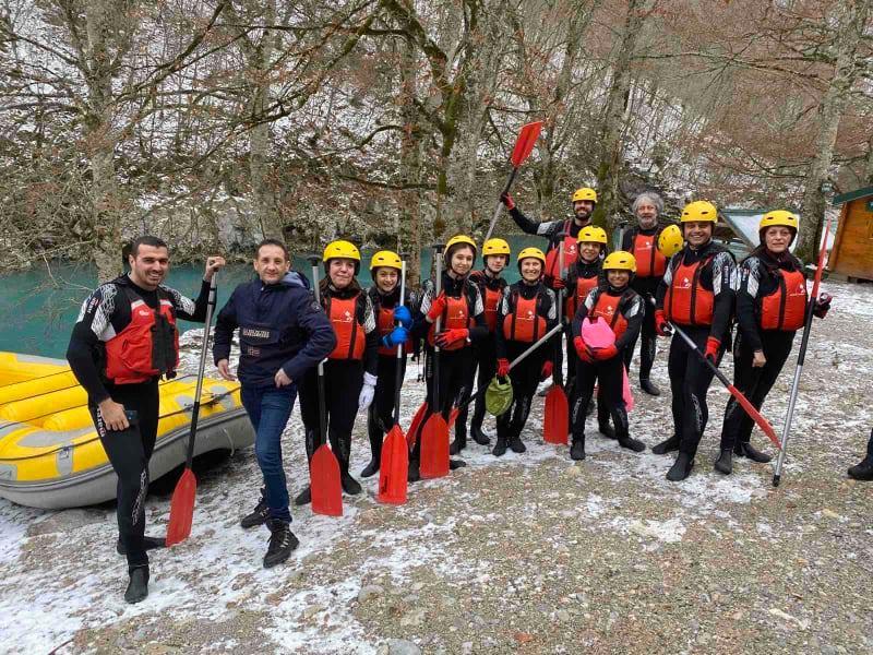 Pogledajte: Prvi put rafting Tarom u januaru