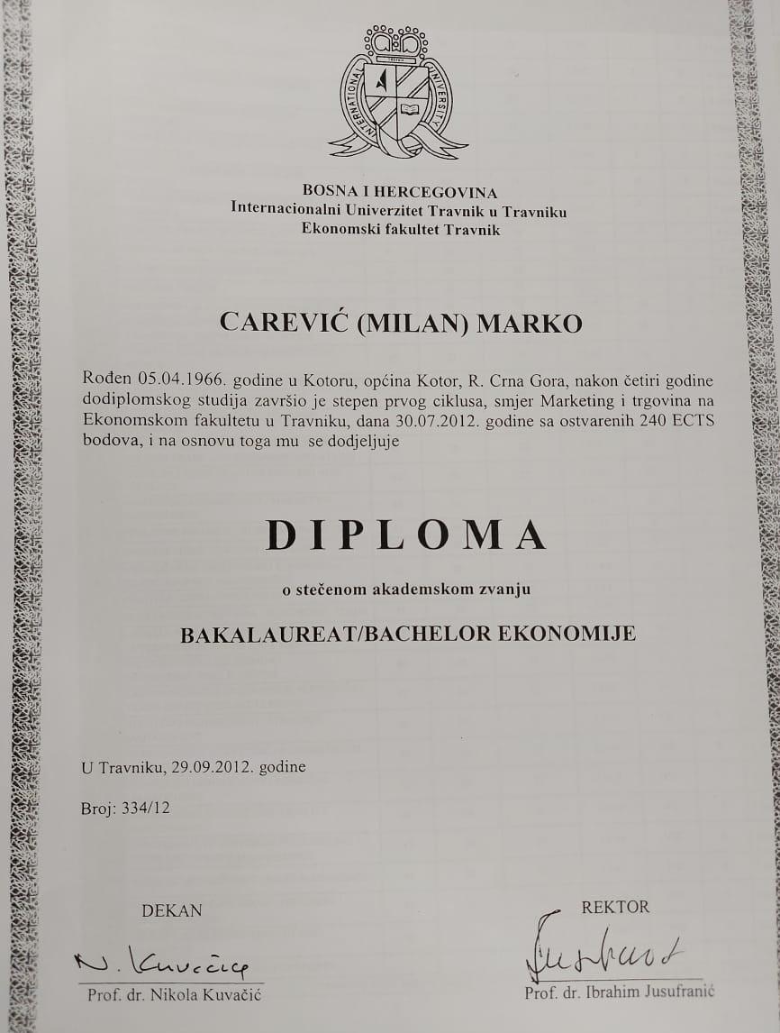 DPS Budva: Carevićeva sumnjiva diploma demanti premijerovih stavova