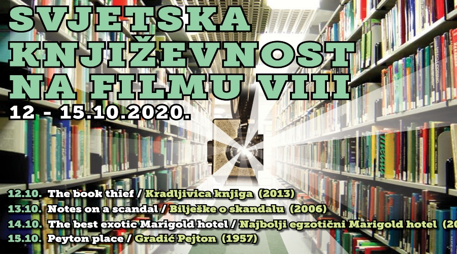 """Revija """"Svjetska književnost na filmu"""" VIII u KIC-u"""