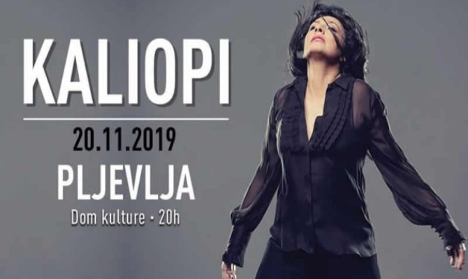 Humanitarni koncert Kaliopi u Pljevljima