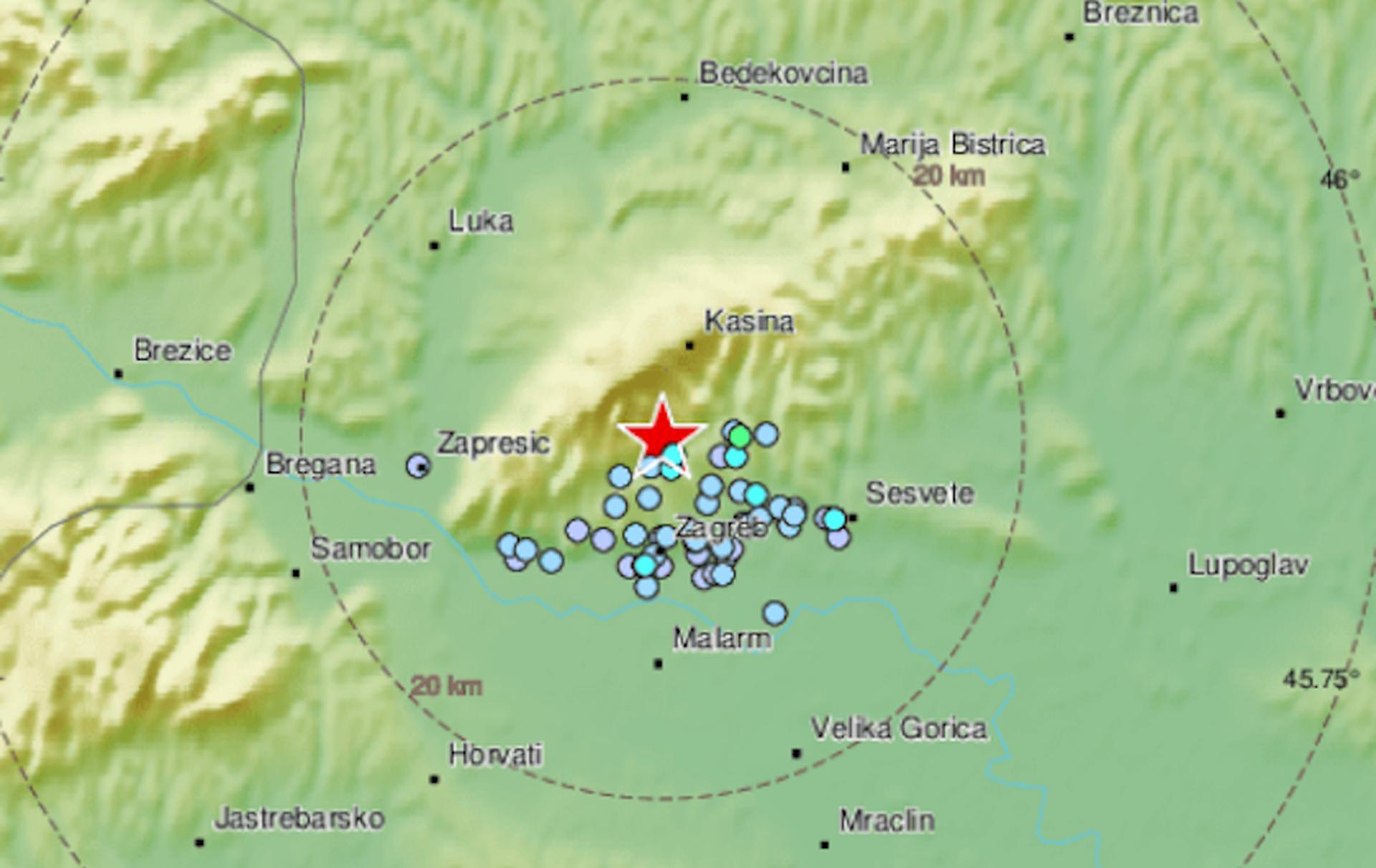 Zemljotres probudio Zagreb