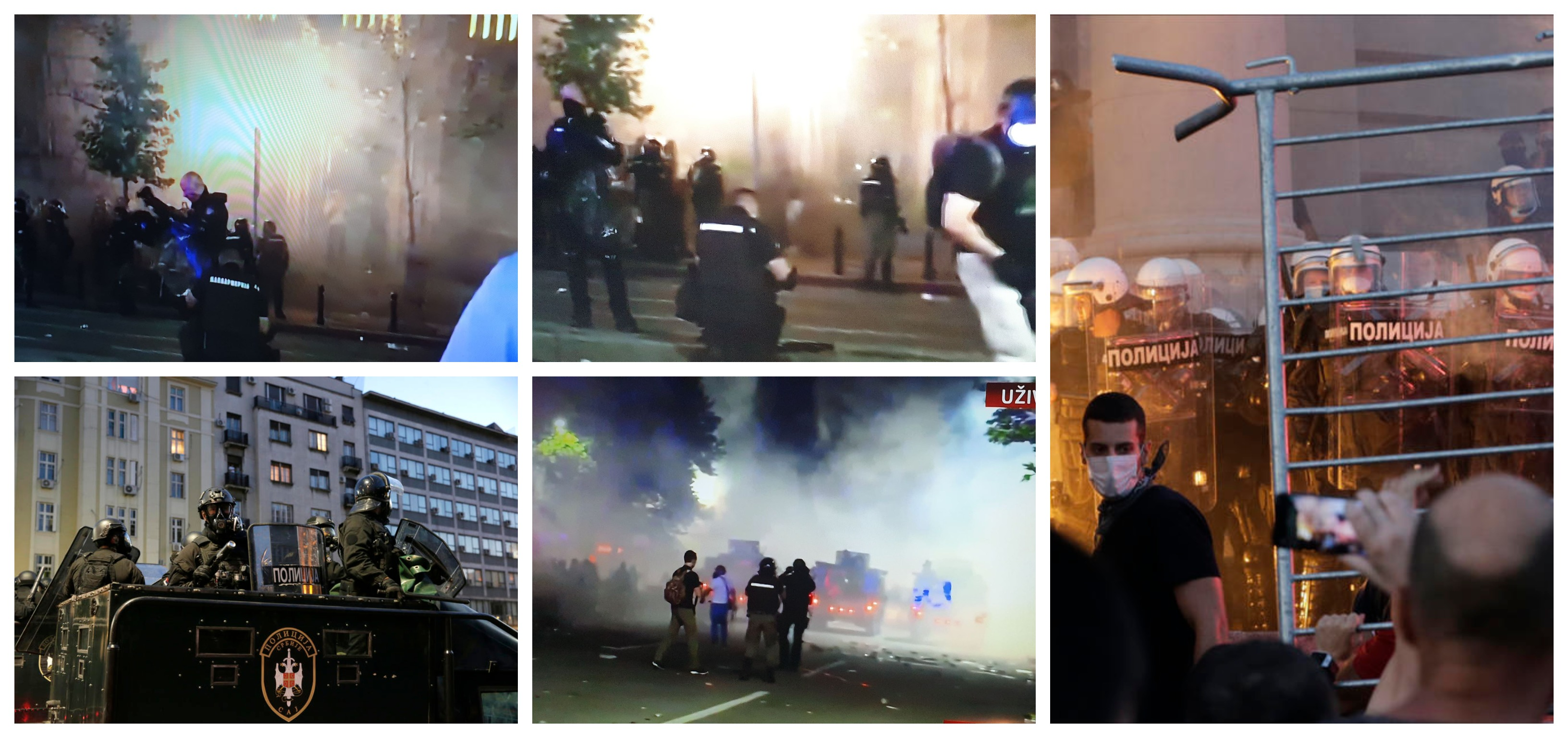 Filmske scene u Beogradu, šest sati nasilja i incidenata
