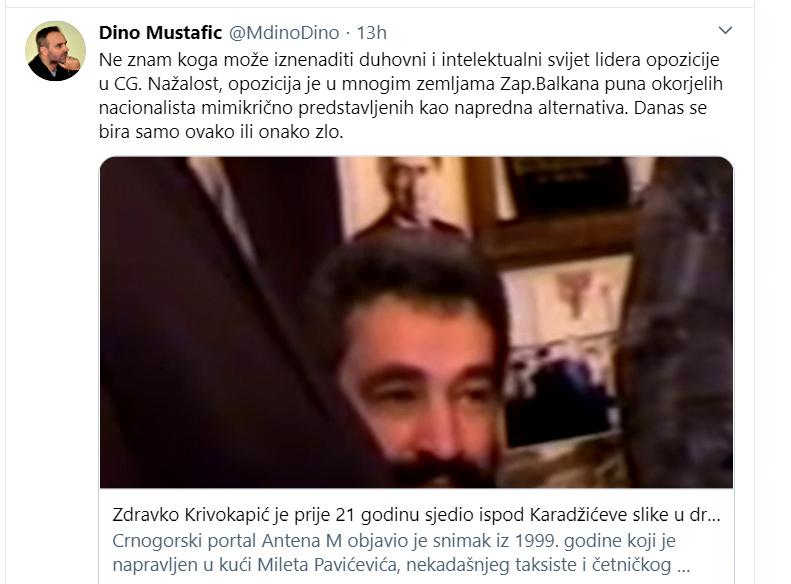 Dino Mustafić: Okorjeli nacionalizam je duhovni i intelektualni svijet lidera opozicije u CG