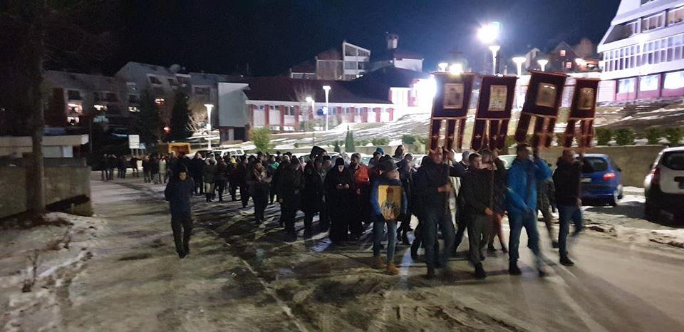 Molebani i litije u više crnogorskih gradova