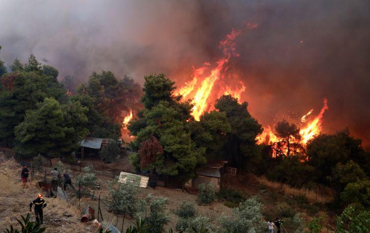 Grčka: Na Eviji i dalje bukti požar, nema žrtava