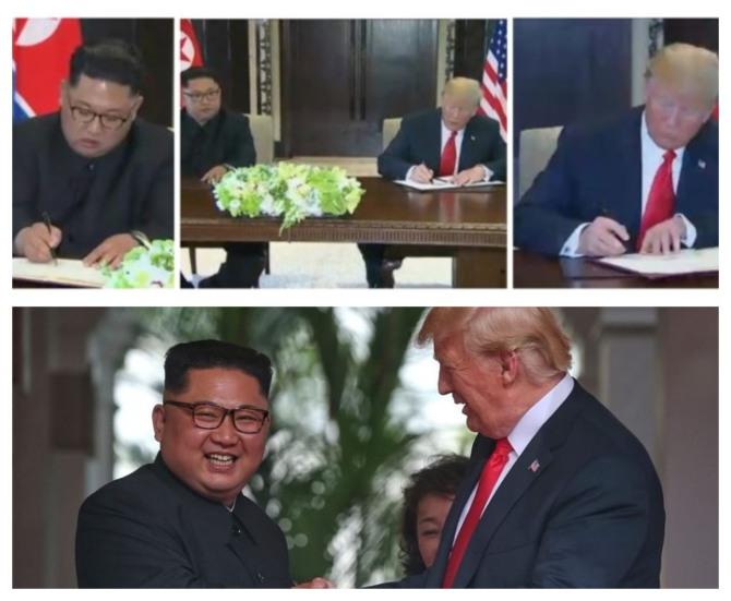 UŽIVO ISTORIJA JE ISPISANA: Tramp i Kim ostavljaju prošlost iza sebe - potpisan sporazum
